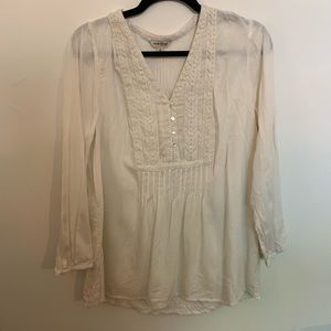 Lucky Brand Off White Blouse